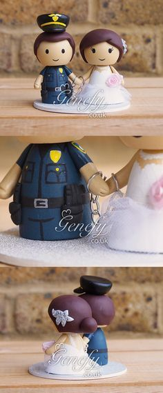 Image result for thin blue line wedding cake topper police
