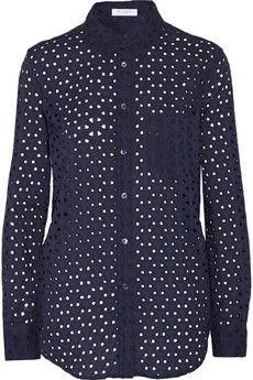 Equipment Reese cotton-eyelet top | THE OUTNET