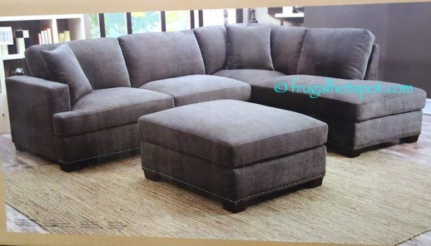 Best Costco Bainbridge 3 Pc Fabric Sectional 899 99 Grey 400 x 300