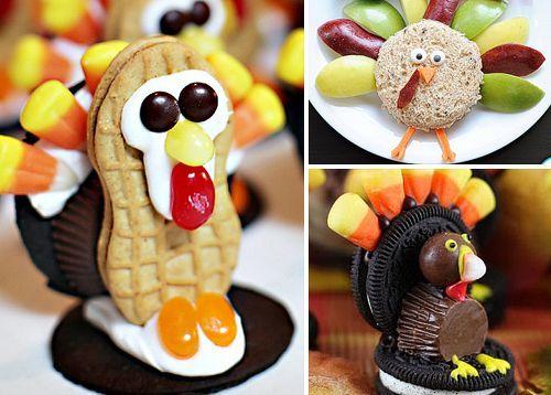#Thanksgiving Food Ideas - Turkey Treats