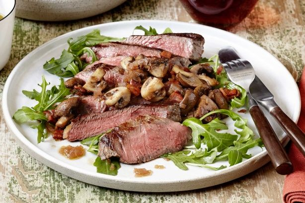 Spoil dad on Father's day with Curtis Stone's delicious steak and mushies!