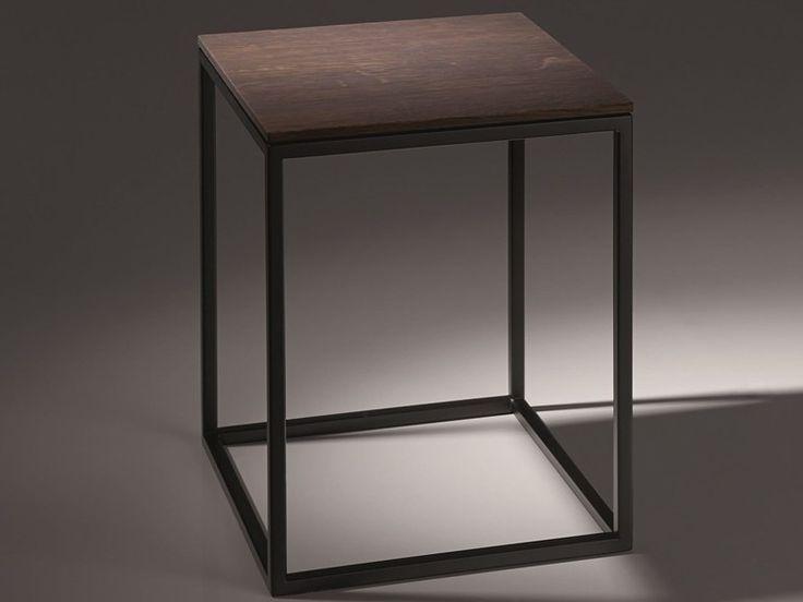 Badezimmerhocker aus Stahl und Holz BETTELUX SHAPE Kollektion Badmöbel by Bette | Design Tesseraux   Partner