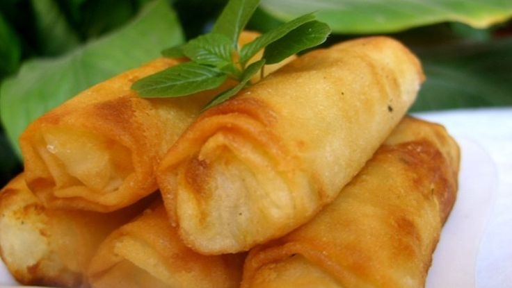 Briouats met aardappelen en mozzarella