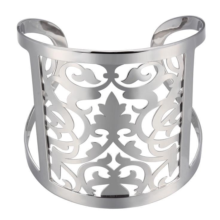 Sterling silver Elle Damask cuff bracelet - $395.00 #PoagWishList