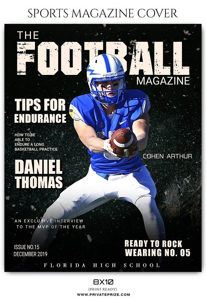 Football Sports Photography Magazine Cover Sports Magazine Covers Sports Magazine Sports Photography