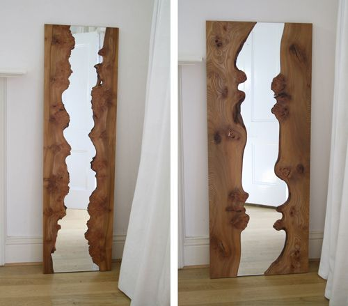 River Mirrors are the wonderful creation of British artist and designer  Caryn Moberly. Each mirror