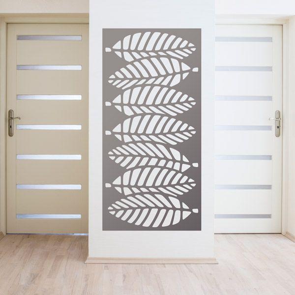 vinilos decorativos lmina estampado ornamental de hojas ideal para decorar espejos paredes o puertas
