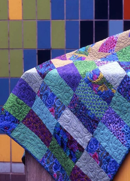 Kaffe Fassett's 'Simple Shapes SpectacularQuilts' seen at the purl bee