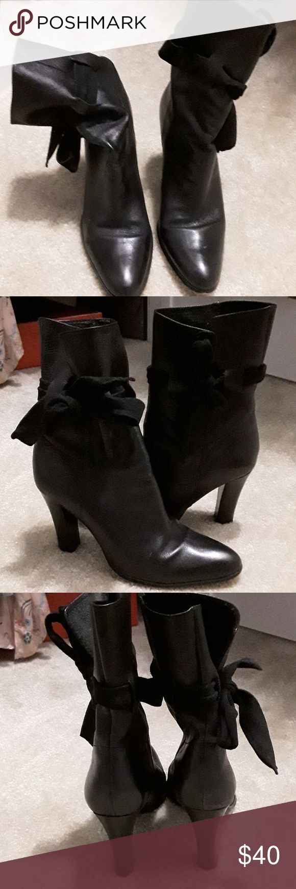 Charles by Charles David Black Leather Ankle Boots Charles by Charles David Black Leather Ankle Boots size 9 1/2 Charles David Shoes Ankle Boots & Booties
