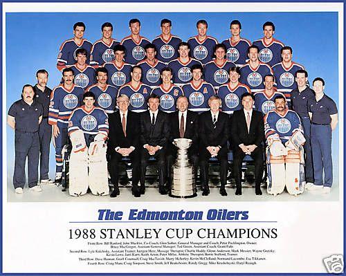NHL 1987-88 Edmonton Oilers Stanley Cup Winners Google Search