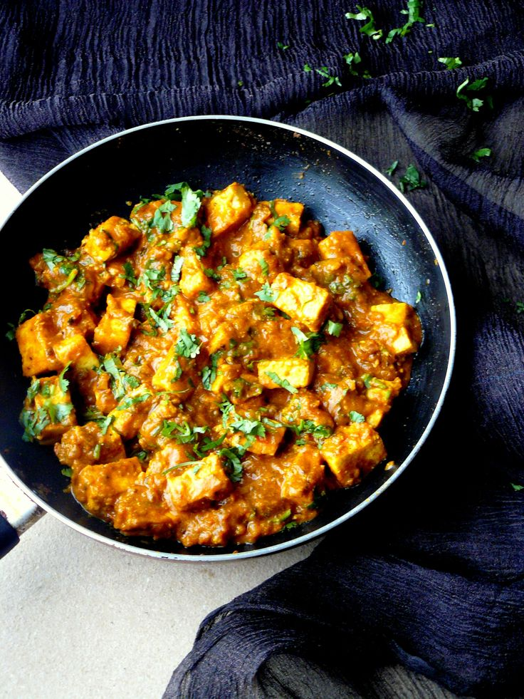 Paneer Tawa Masala (Indian Cottage Cheese Curry with Spices and Aromatics) by the Spice Adventuress
