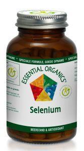Essential Organics Selenium 50 mcg 90 tabletten - Selenium is een belangrijk sporenelement met een antioxidatieve werking. Voedingssupplement met vitaminen, mineralen, kruiden en groente- en fruitextracten. Samenstelling Selenium groente- en fruitcomplex 67 mg (Acerola, blauwe bes, boerenkool, broccoli, citroenschil, cranberry, groene peper, kool, krootvezel, kudzu, lijnzaad, luzerne, papaja, pompoenzaad, quercetine, rozenbottel, rutine, shiitake, sinaasappelschil, spinazie, spirulina…