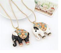 Módní šperky 18K zlato Thajsko Animal Elephant prívesok ...