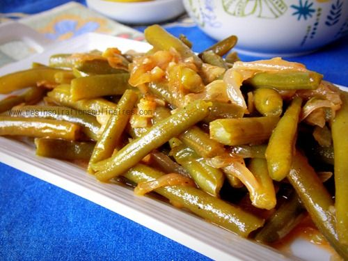 haricots verts, à l'ail & échalote facile