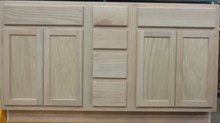 Unfinished Drawers And Sink Base Vanity Bathroom Cabinet