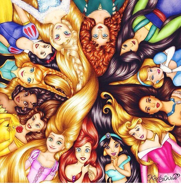 Princesas e seus cabelos