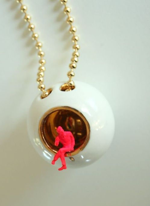 necklace; 'living in a bubble' from designers Lammers it looks great on a simple dress! http://www.studiodewinkel.nl/mode/ML016.html