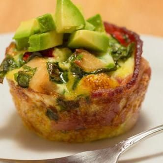 Bake Protein-Packed Bacon Omelet Bites -  low carb