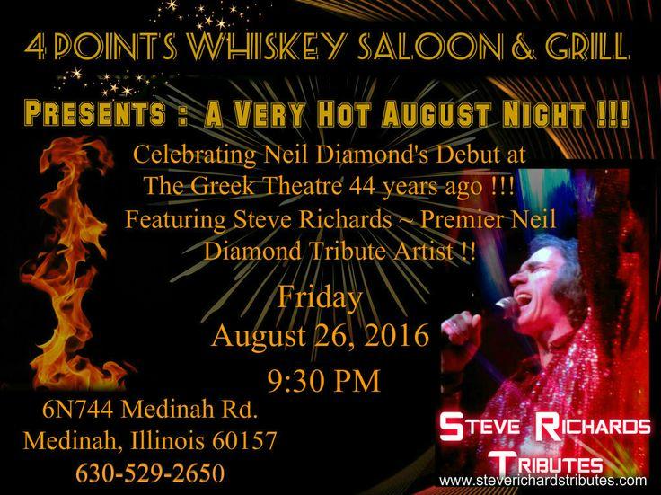 LIVE IN CONCERT  Steve Richards Midwest's PremierNeil Diamond Tribute Artist