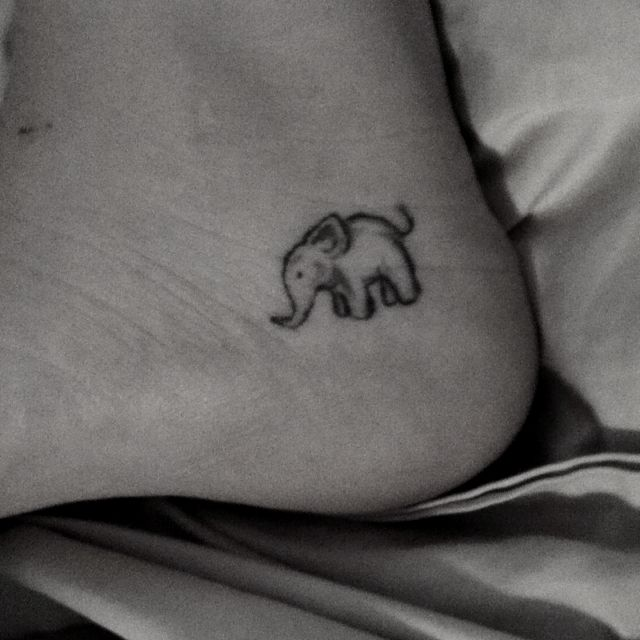 f90f680d4 Elephant tattoo on foot. I like the placement. 2 of my best friends ...
