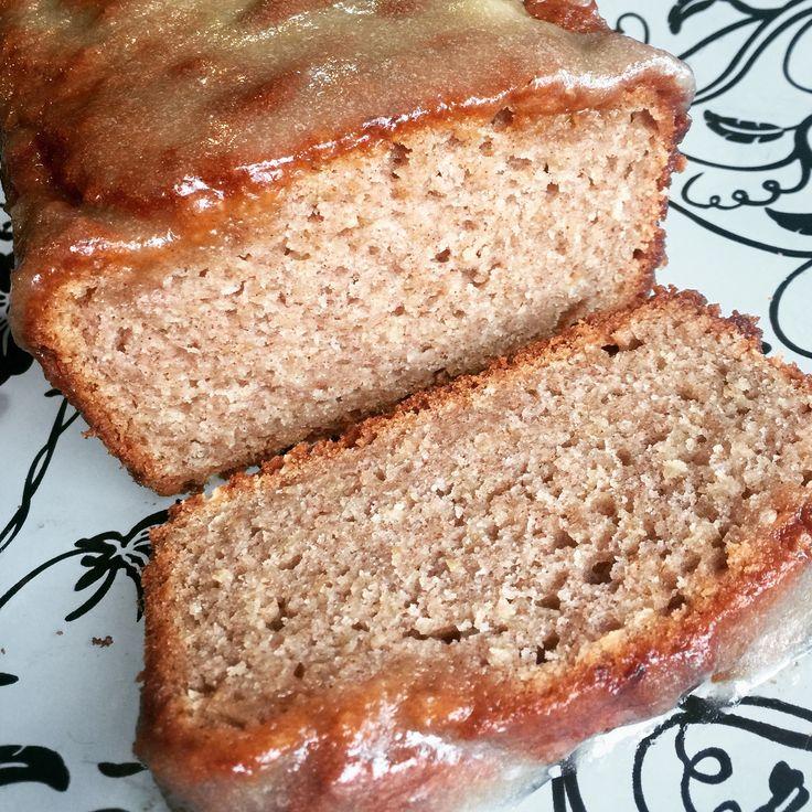 Gluten Free Glazed Apple Cinnamon Oatmeal Bread