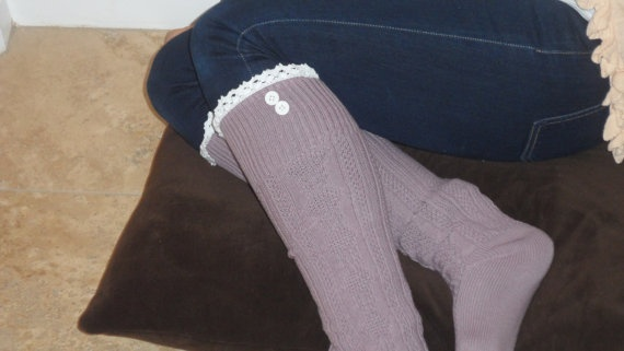 Pretty and comfortableBoots Socks, Lavender Boots, Boot Socks
