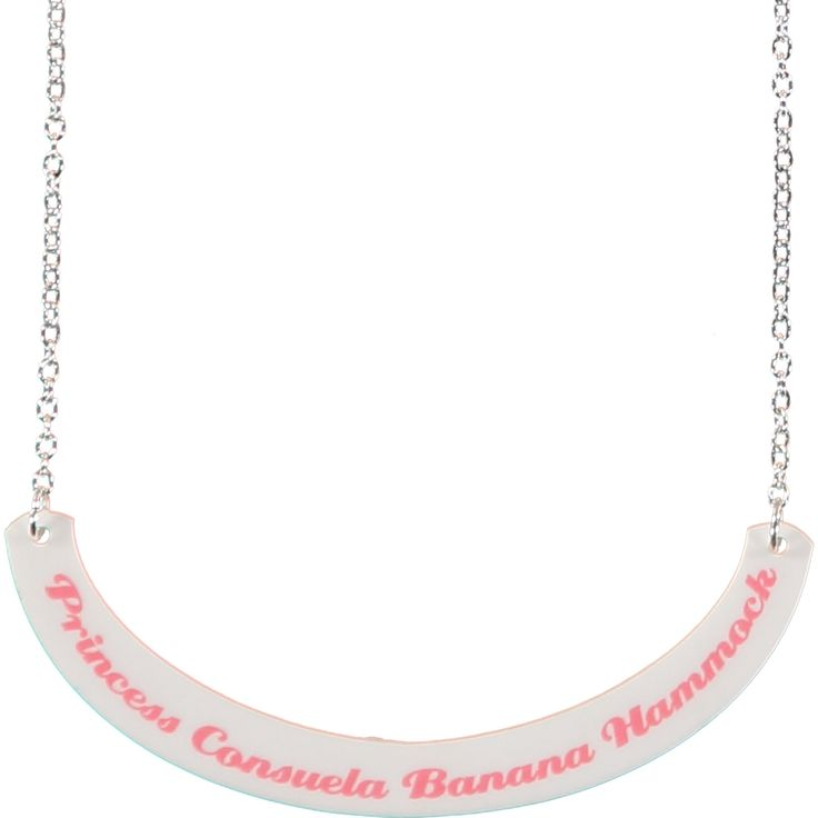 Friends Princess Consuela Banana Hammock Necklace | Quirky & Kitsch Jewellery & Accessories