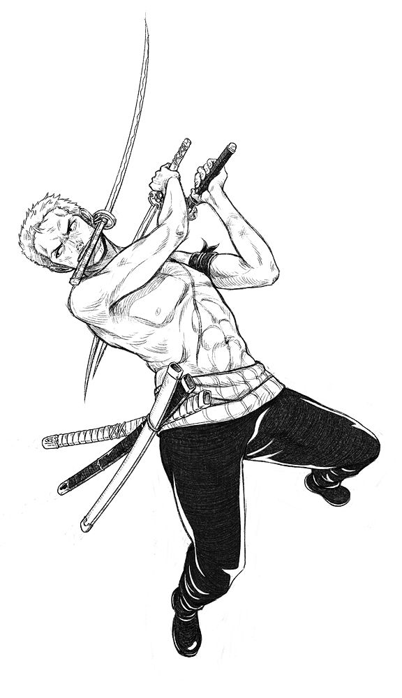 - Zoro Lines - by *coreymill on deviantART