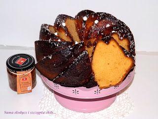 Sama słodycz i szczypta chili : Babka krówkowa w polewie czekoladowej.