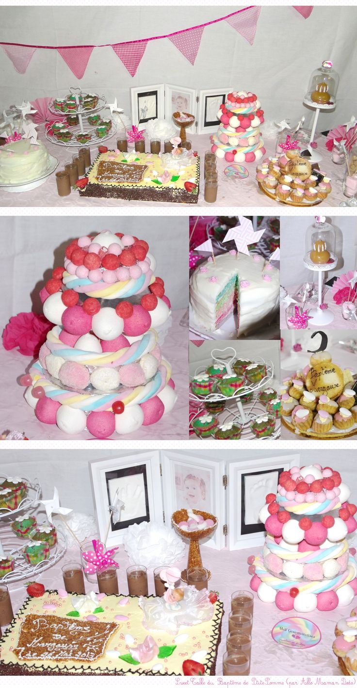 sweet table fille bapteme idée