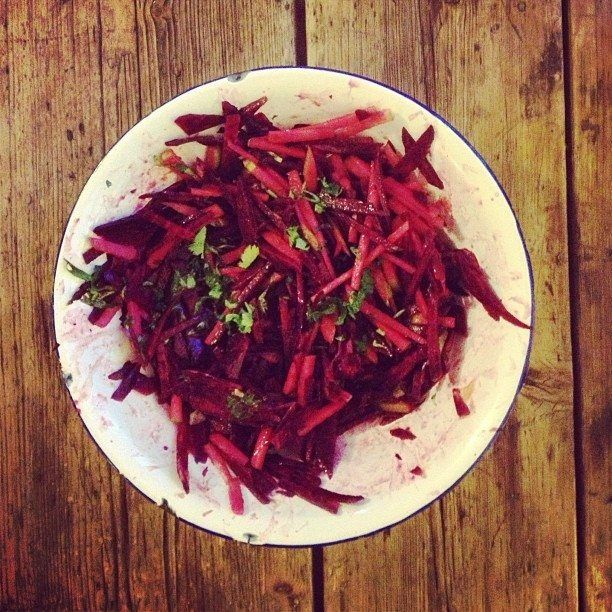 Super quick and delicious Beetroot Slaw recipe