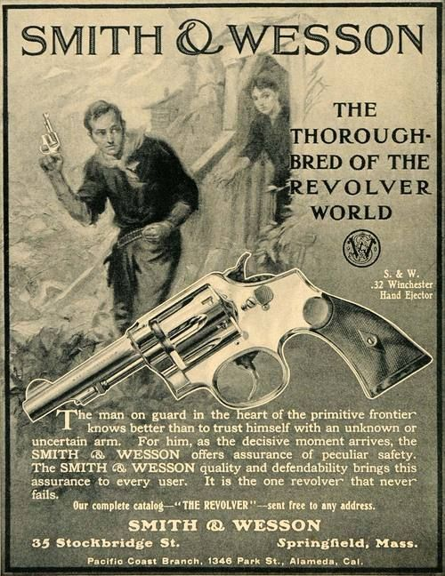 1907 Ad Smith & Wesson .32 Hand Ejector Revolver