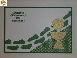 """Glückwunschkarte zur Erstkommunion - passend zum Thema """"Mit Jesus unterwegs"""" oder """"Mein Weg zur Erstkommunion""""..."""