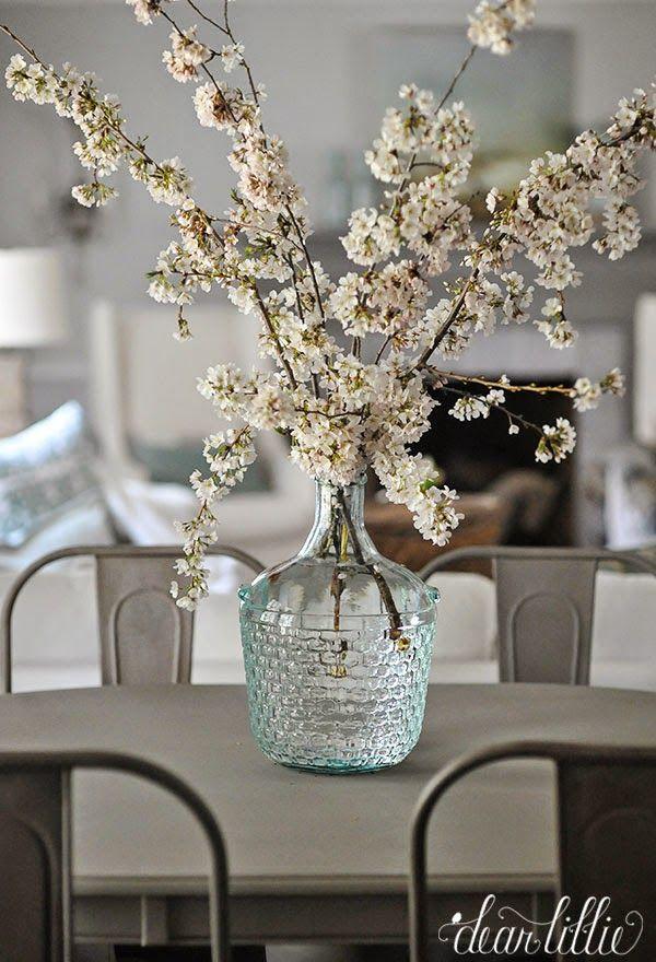 Spring Flower Arrangement in a Glass Demijohn from Dear Lillie | Friday Favorites at www.andersonandgrant.com