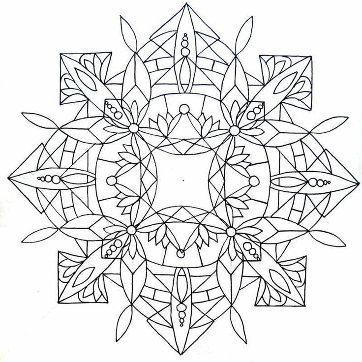 Coloriage à imprimer mandala en 40 modèles à croquer