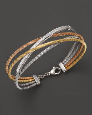 Charriol Classique Tri Color Diamond Bar Bracelet | 28% OFF