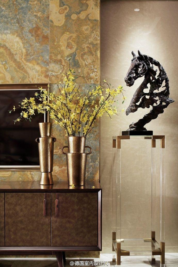 Modern sculpture and interior