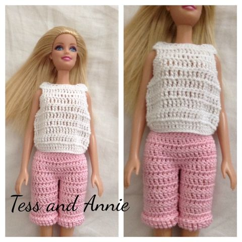 Tess and Annie: Free Crochet Pattern - Barbie Play Outfit