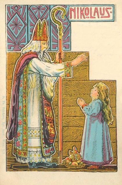Nikolaus, old postcard