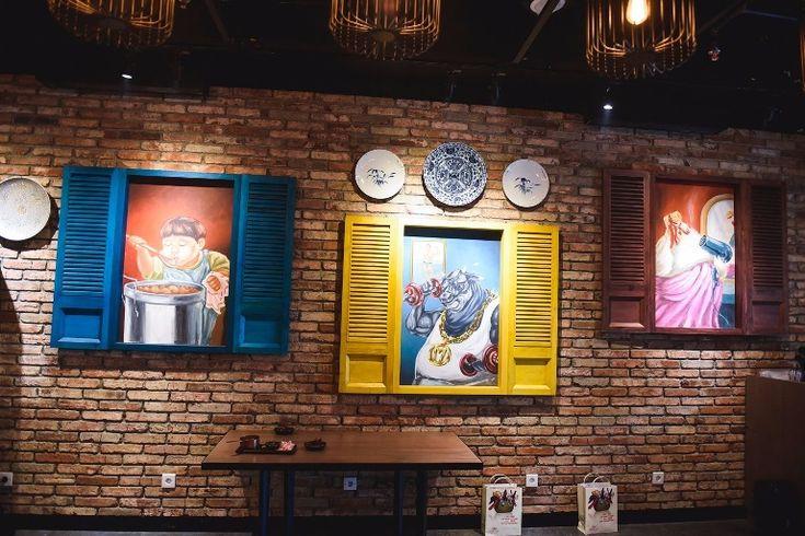 Mural for restaurant-Marco Padang PIM Mural by iMural