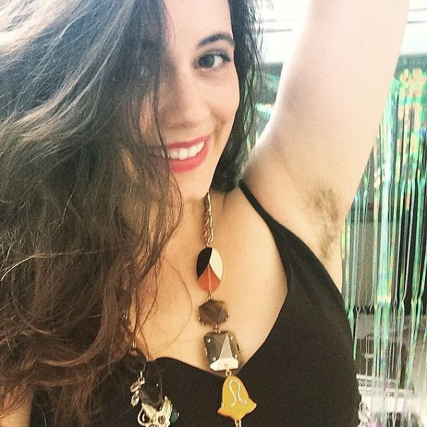 Woman Showing Her Armpit Hair  Natural Body Hair -5220