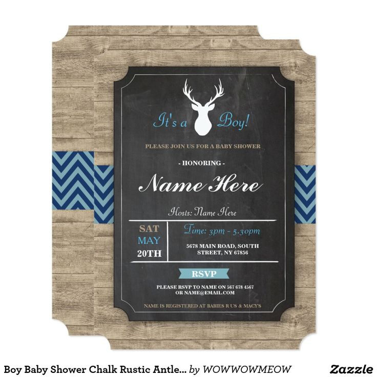 17 best images about baby boy on pinterest | deer antlers, diaper, Baby shower invitations
