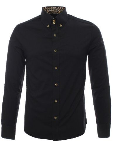 FLATSEVEN Mens Slim Fit Leopard Lined Casual Dress Shirts (SH406) Black, L FLATSEVEN http://www.amazon.co.uk/dp/B00ITNUN9I/ref=cm_sw_r_pi_dp_SAllub08PDHJ5
