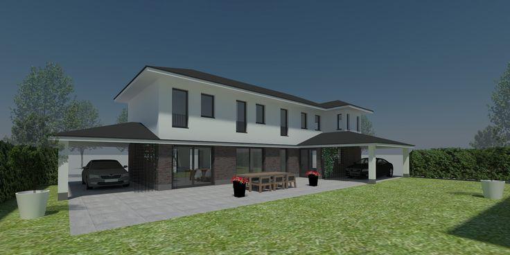 Nieuwbouw twee onder één kap in Culemborg. Ontwerp USE architects