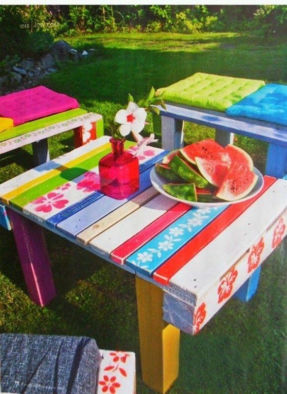 17 mejores ideas sobre mesas de picnic de paleta en for Jardin 7 17 acapulco