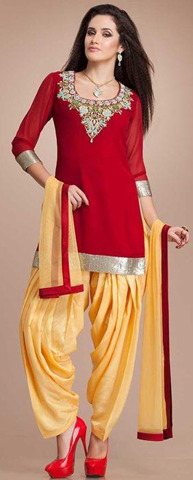 Patiala Salwar Kameez Designs 2014 for Girls | Stylespoint.com