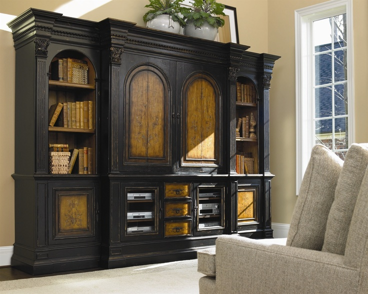 Pocket Door Tv Entertainment Wall Unit High Style Luxury