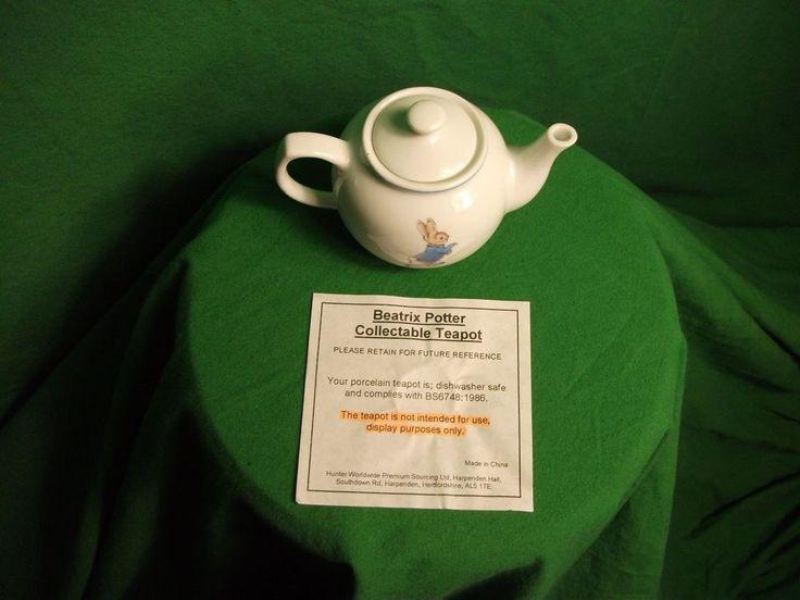 Ornamental Beatrix Potter, Peter Rabbit China Tea Pot (minature)