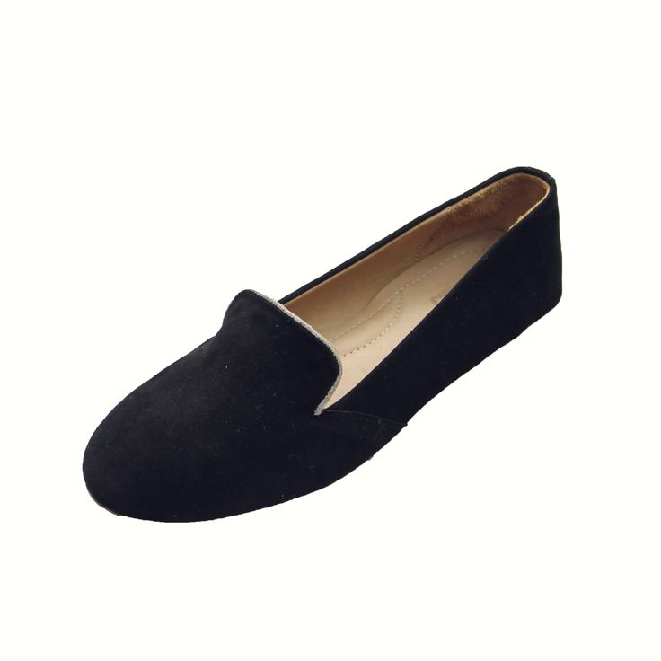 Classic Black Lalibela Loafer // suede loafer // leather smoking shoe