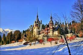 Imagini pentru castelul peles iarna poze